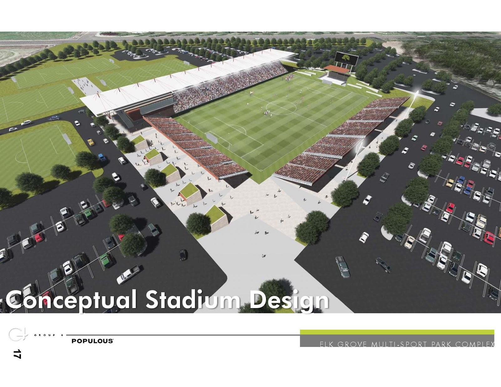 Elk Grove Unveils Pro Soccer Stadium Plans; Will Seek Annexation of Grant Line Road Site
