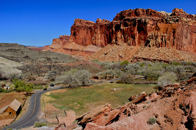 Capitol Reef National Park viewed from the Cohab Canyon Trail