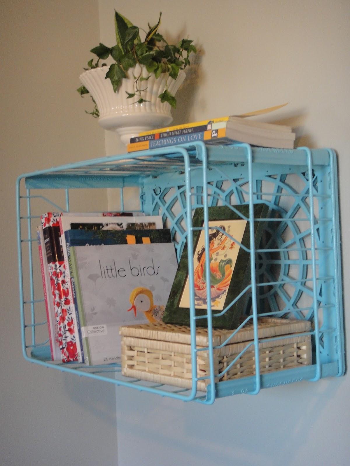 DIY Milk Crate Shelf