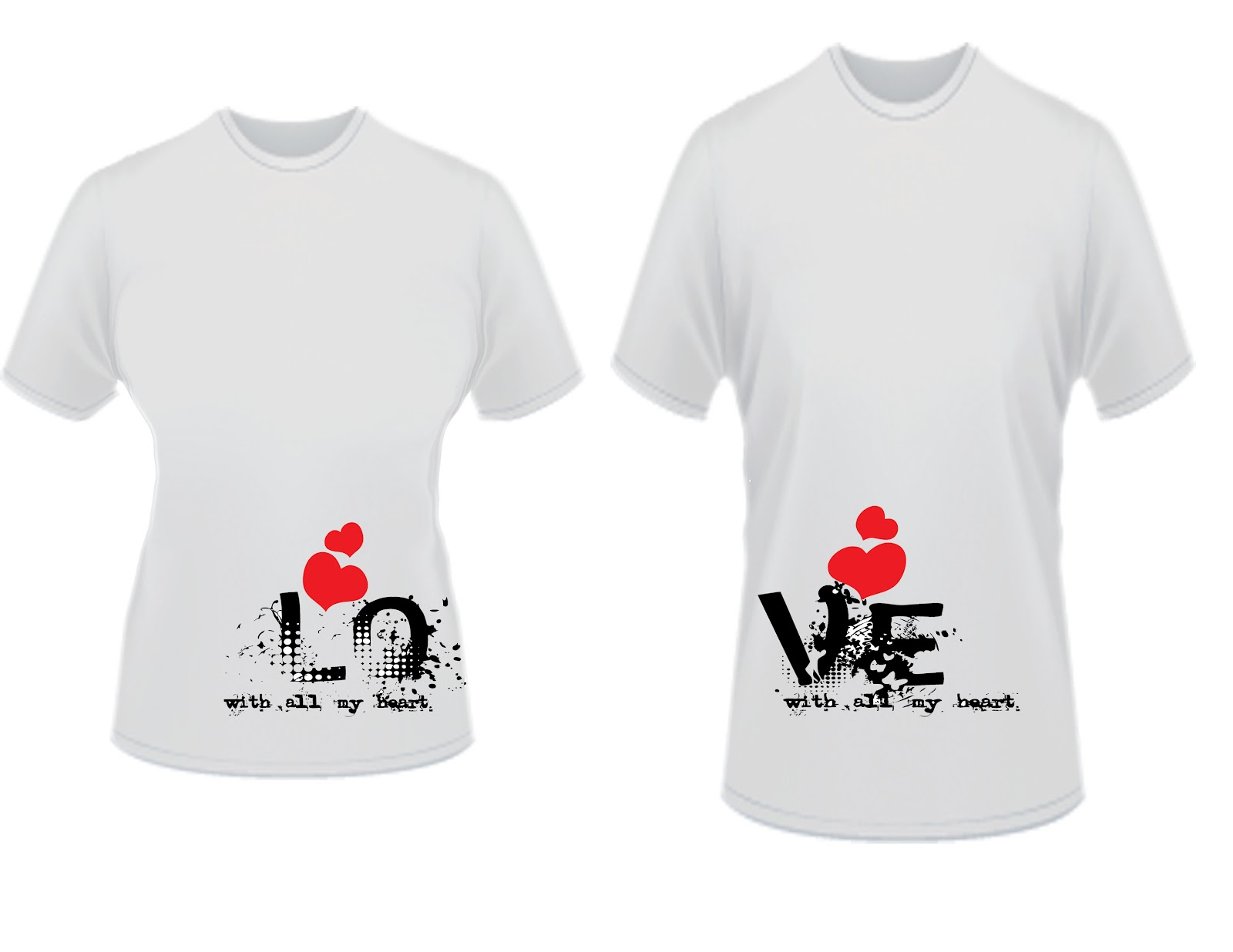 Teesntell by prezentsdc for Couple printed t shirts india
