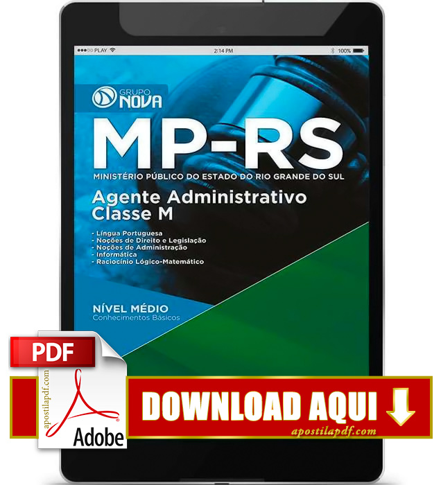Apostila MP RS 2015 PDF Download Agente Administrativo