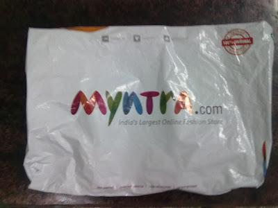 myntra.com myntra parcel bag packet logo