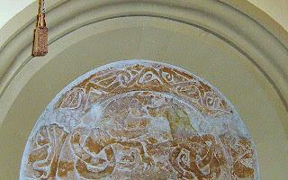 The Ipstones Tympanum at the Church of St Leonard