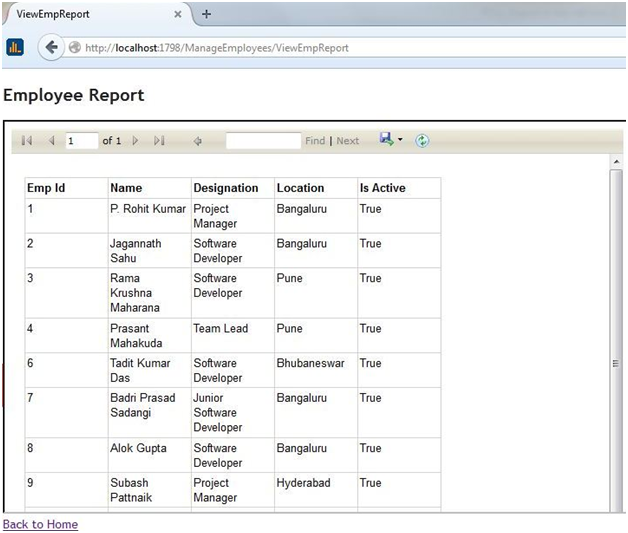 Create RDLC Report in Asp.net MVC 3 using Dataset with Example in C# in Visual Studio 2010