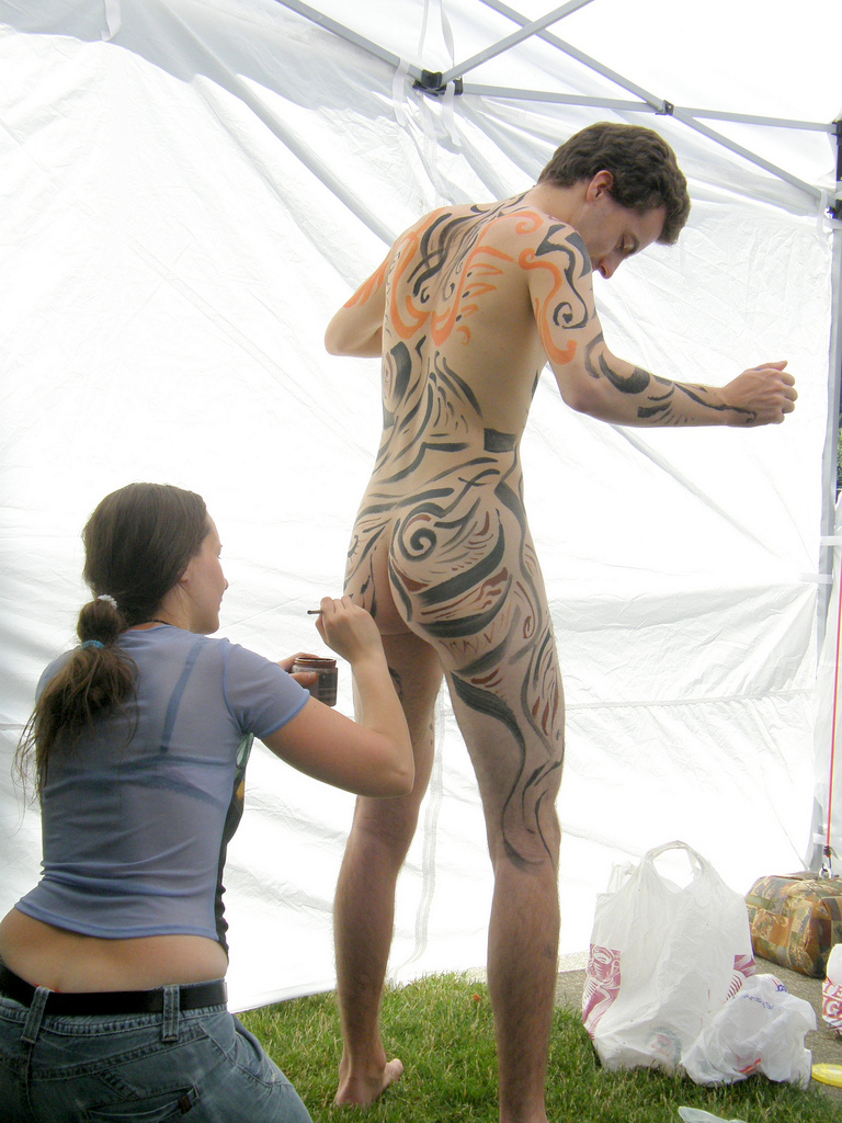 Are mistaken. Cfnm body painting think