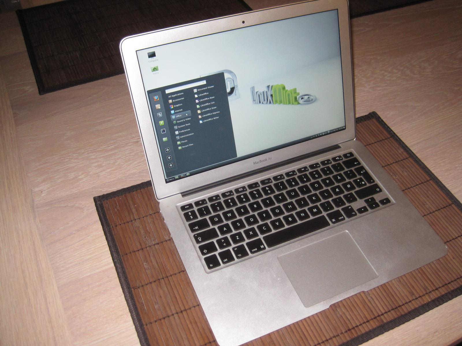 installing linux mint on macbook air
