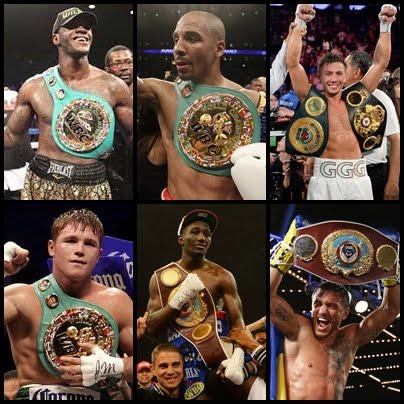 Todos los actuales campeones del mundo de boxeo