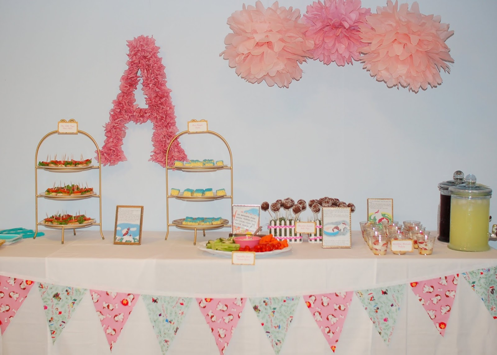smarty parties little golden books baby shower girly style. Black Bedroom Furniture Sets. Home Design Ideas