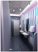 Дизайн туалетов АБК завода