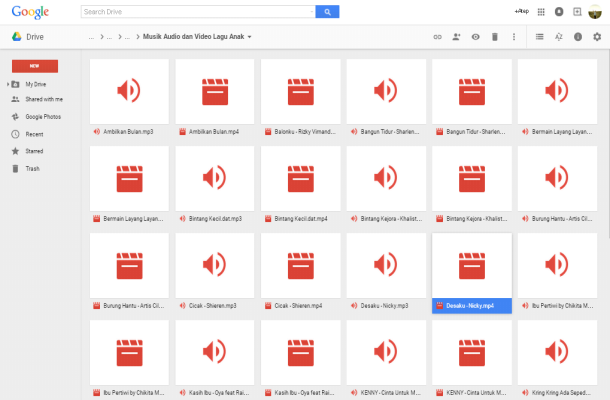 Download Lagu Anak Indonesia di Google Drive