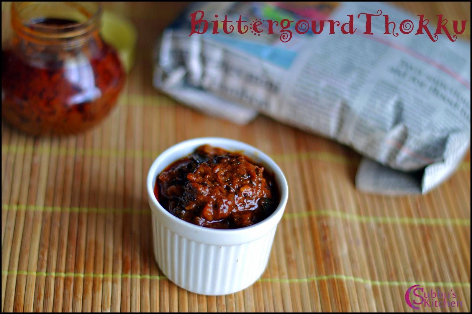 Bittergourd Thokku Recipe | Pagarkai Thokku Recipe
