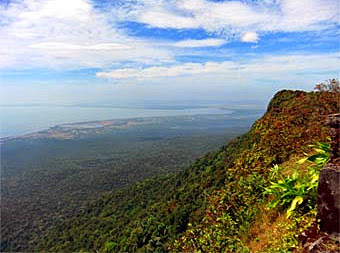 phnom bokor national park and Kampot coast panorama