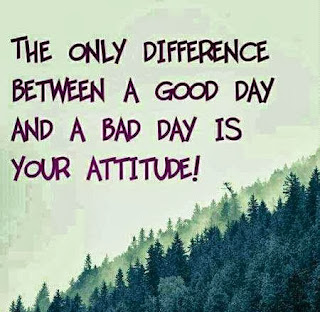 The Only Difference Between Good Day And Bad Day Is Your Attitude