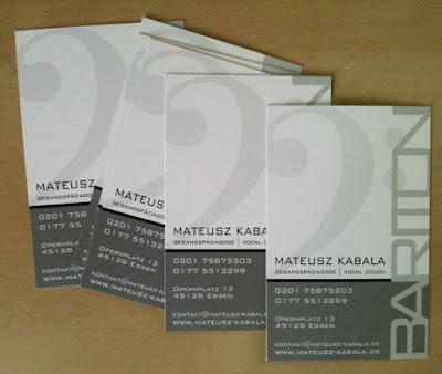 Mateusz Kabala - Bariton Businesscards