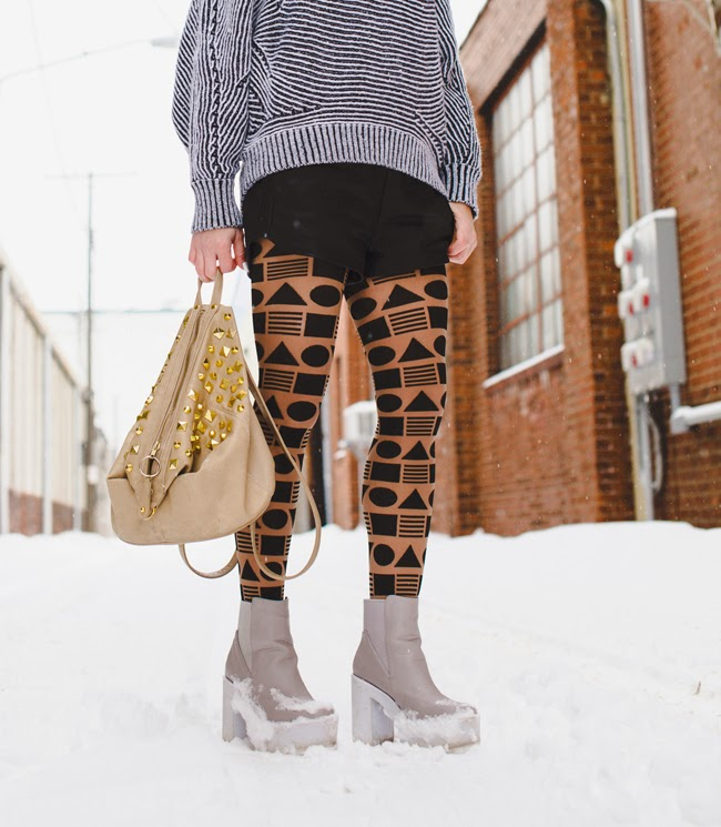 Geometric pattern tights -  Cleveland Fashion - street style