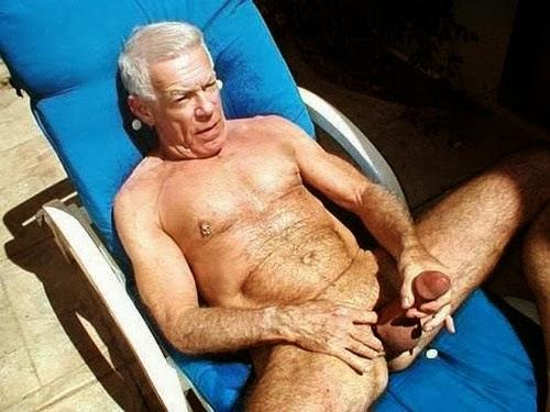 Naked Old Gay Grandpa