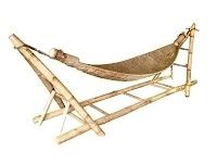 ahşap bambu hamak