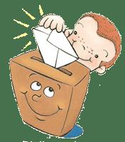 Resultat d'imatges de gifs animados niños urnas