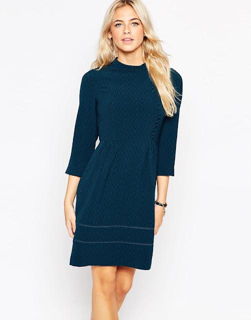 oasis teal dress, teal dress, victoriana blue dress,