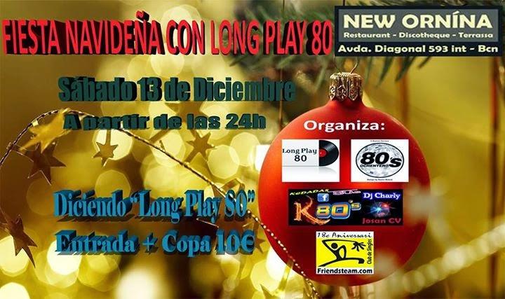 Flyer Fiesta Navideña con Long Play 80