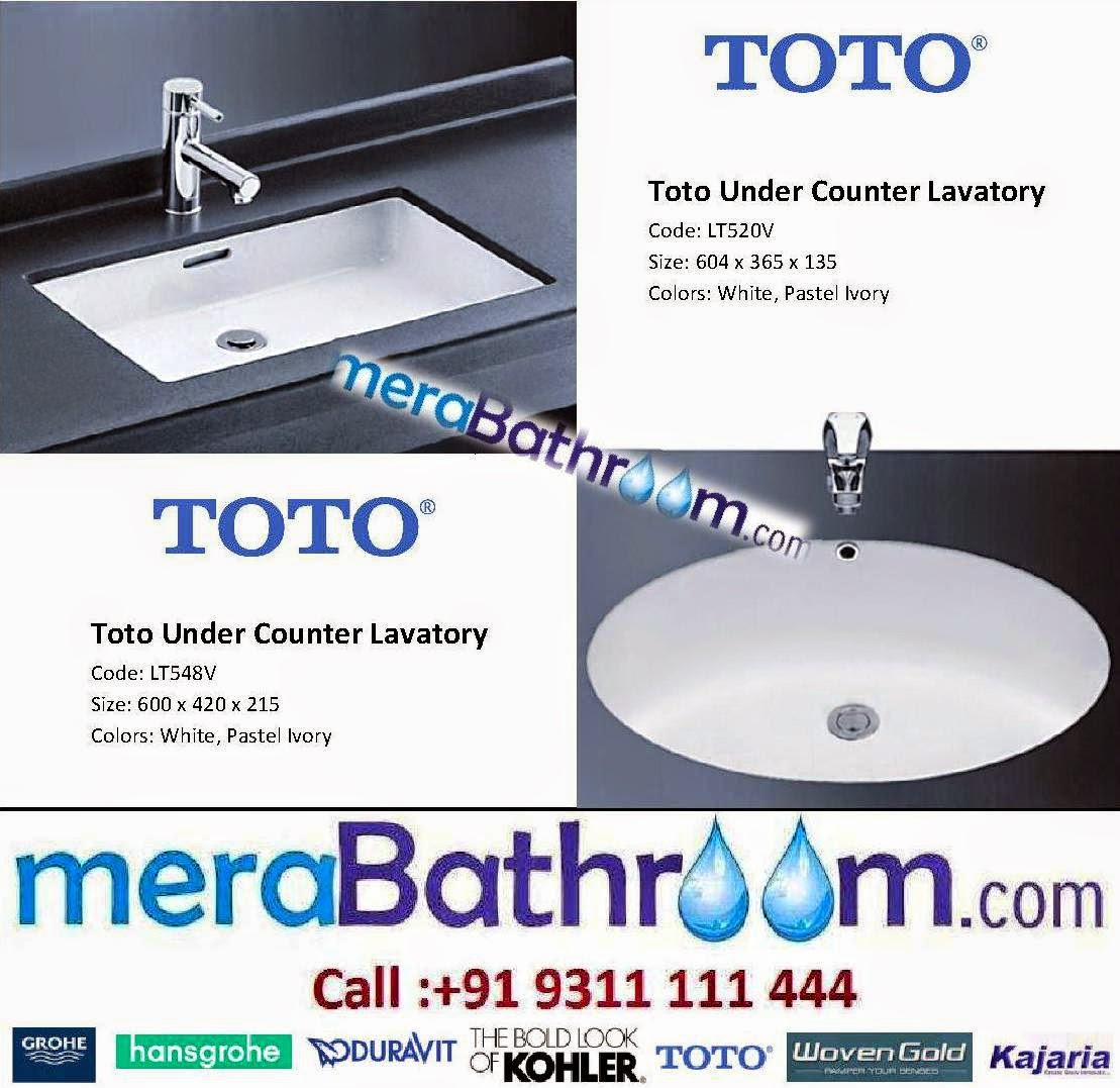 Make My Bath: Toto Under Counter Lavatory