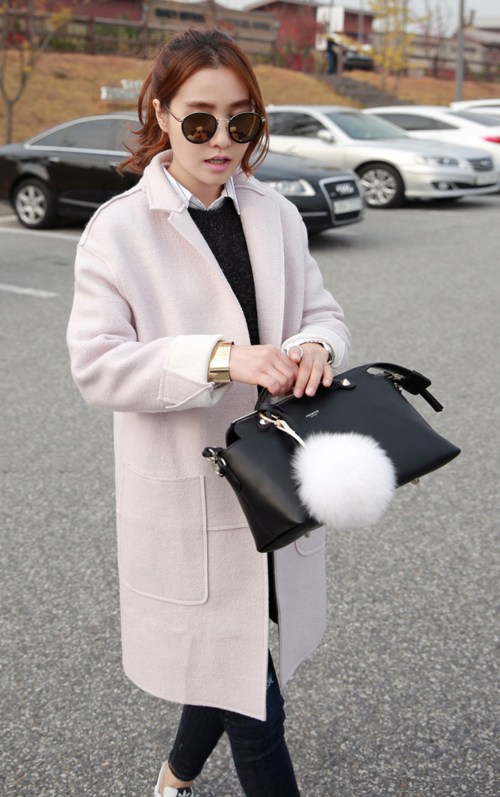 Light Colored Textured Coat