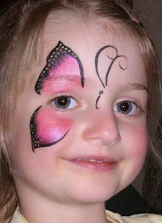 Left Butterfly Face painting