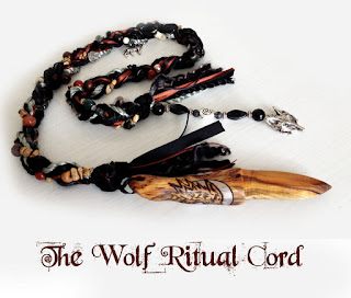 The Wolf Ritual Cord with Athame from MoonsCrafts