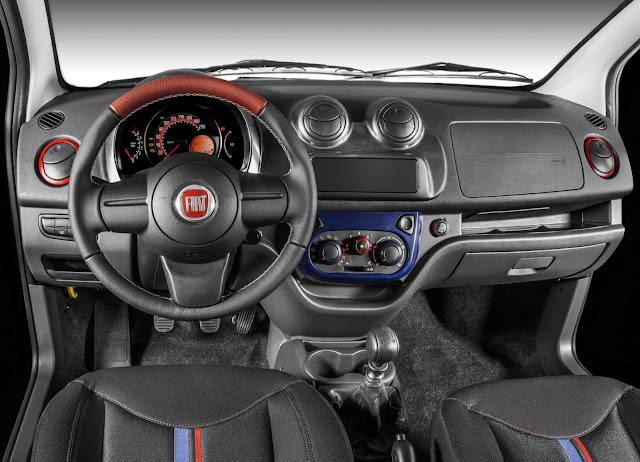 Novo Fiat Uno 2014 - painel