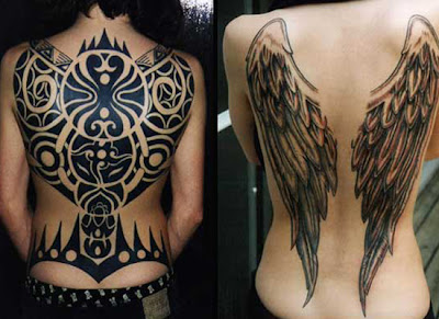 Wing Tattoo Design on Back, tattoo on back