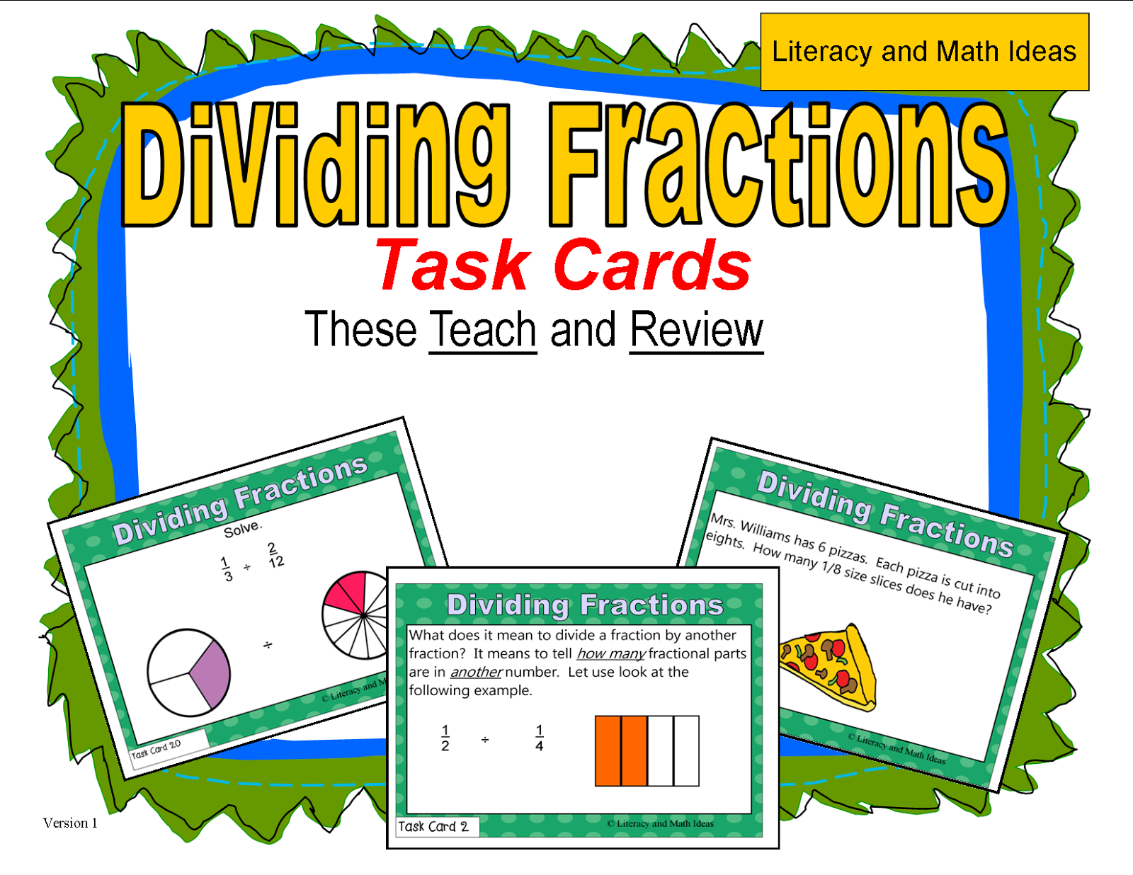 Click Here For Dividing Fractions Task Cards Literacy & Math Ideas: Three  Ways To Divide