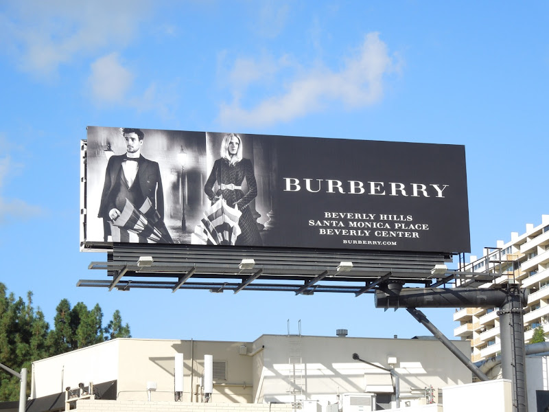 Burberry umbrella FW 2012 billboard