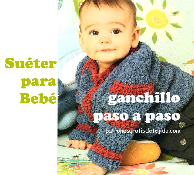 chambrita para bebe con crochet