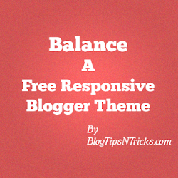 Balance a Free Responsive Blogger Theme