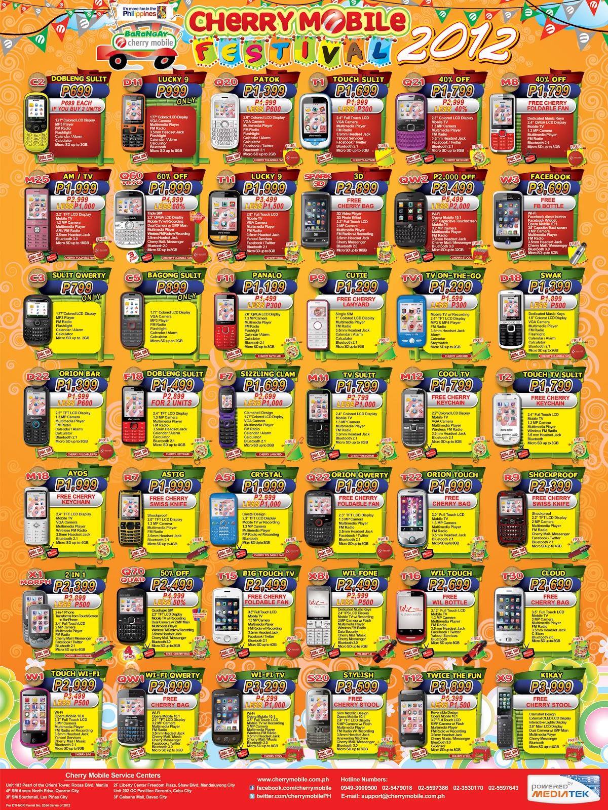 Cherry Mobile Price List