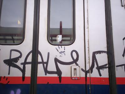 hand print graffiti