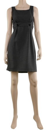 BUTTOM EMPIRE SHEATH DRESS