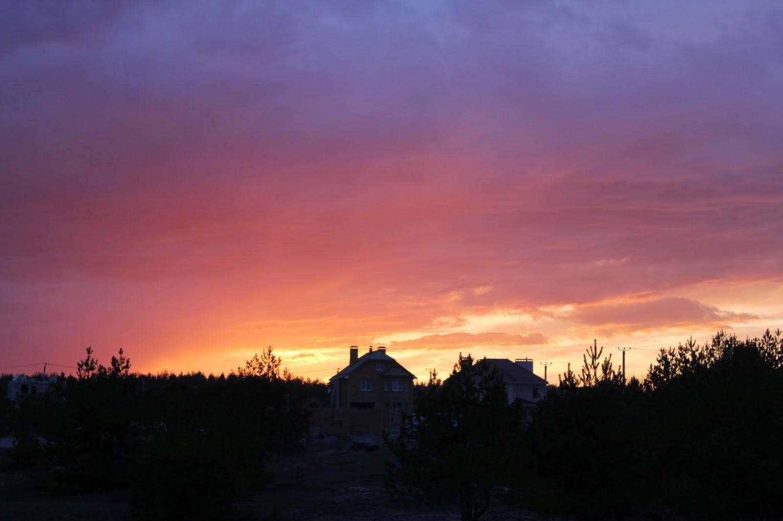 сиреневый закат