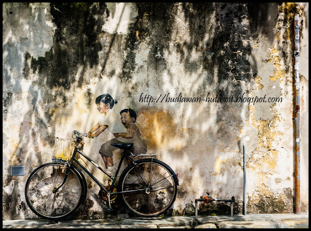 Mural Kids on Bicycle di George Town Penang