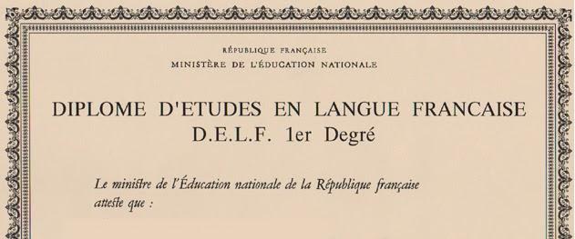 Diplome D'Etudes en Langue Francaise