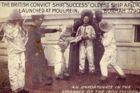still from film - the Convict Ship Success