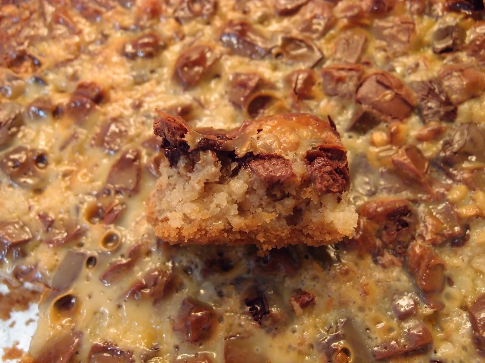 condensed milk and nut cake