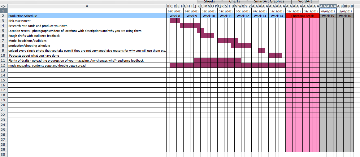 Manufacturing Schedule Template. free production schedule ...