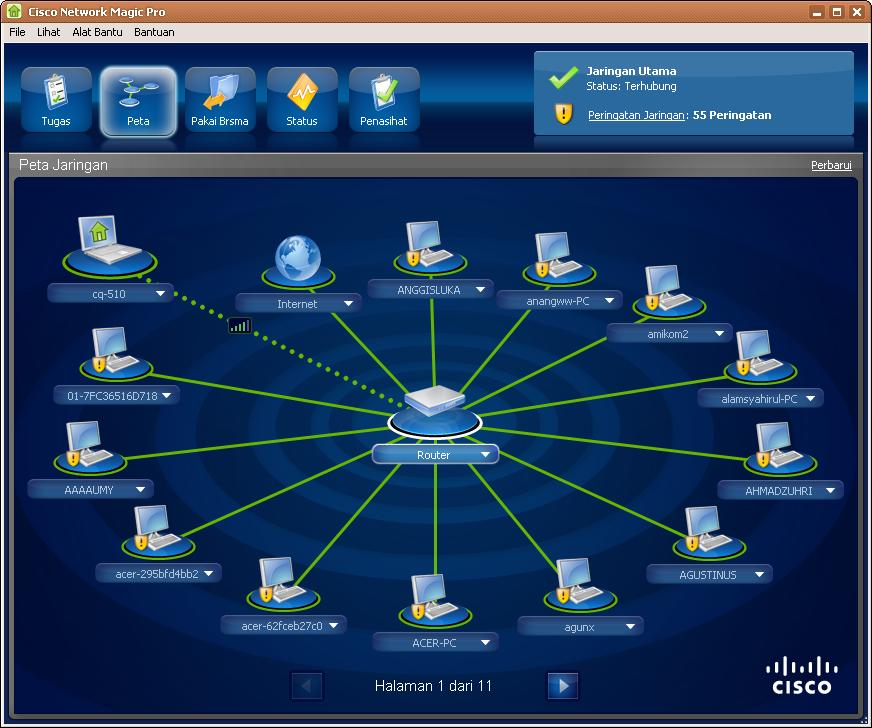 برامج مدير الشبكة