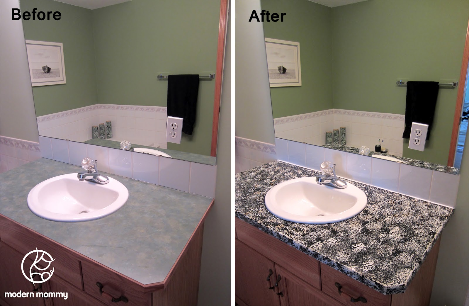 Modern Mommy: Time for a Home DIY Project: Granite Countertop Paint