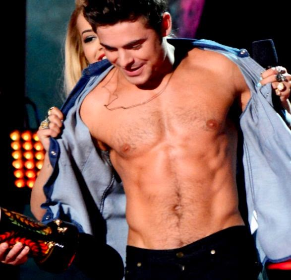 zac efron shirtless sixpack mtv hot body
