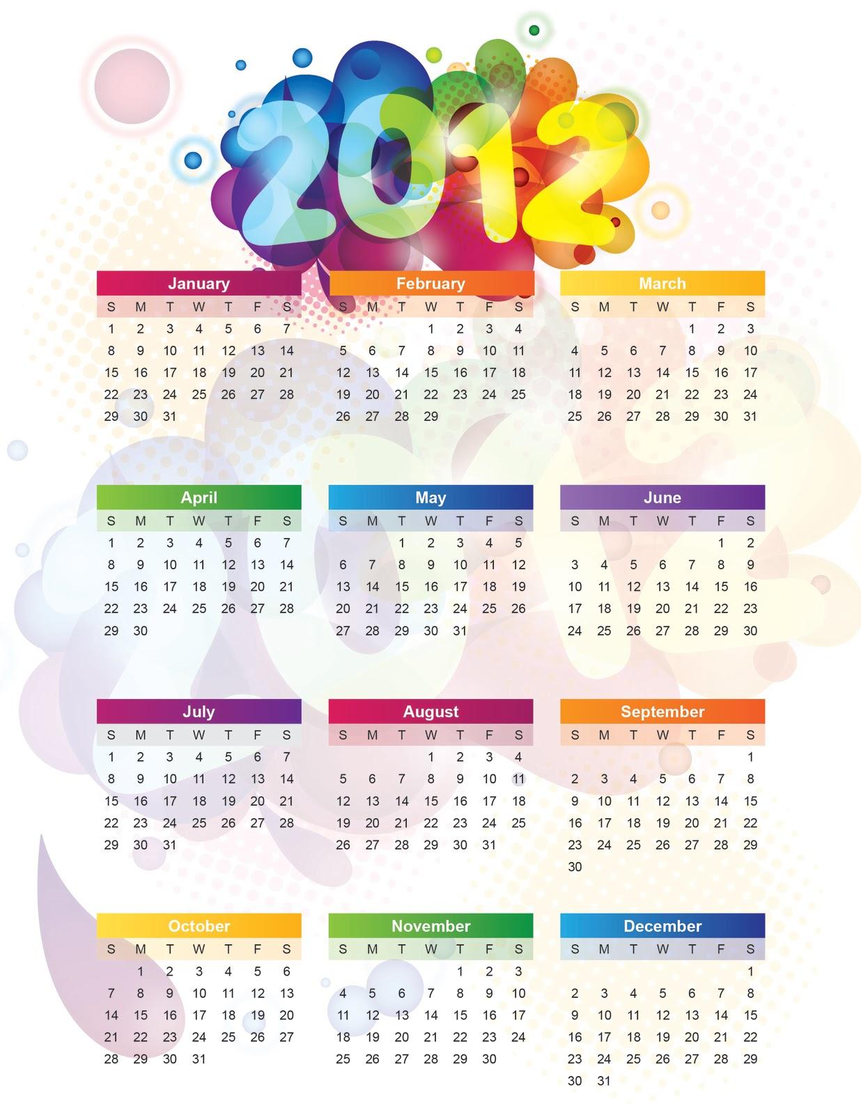 Jenn and tonic january 2012 for Calendar bulletin board printables