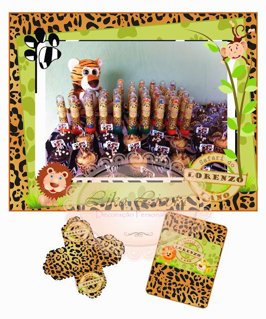 rotulo personalizado infantil safari