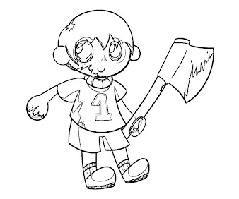 #8 Villager Coloring Page