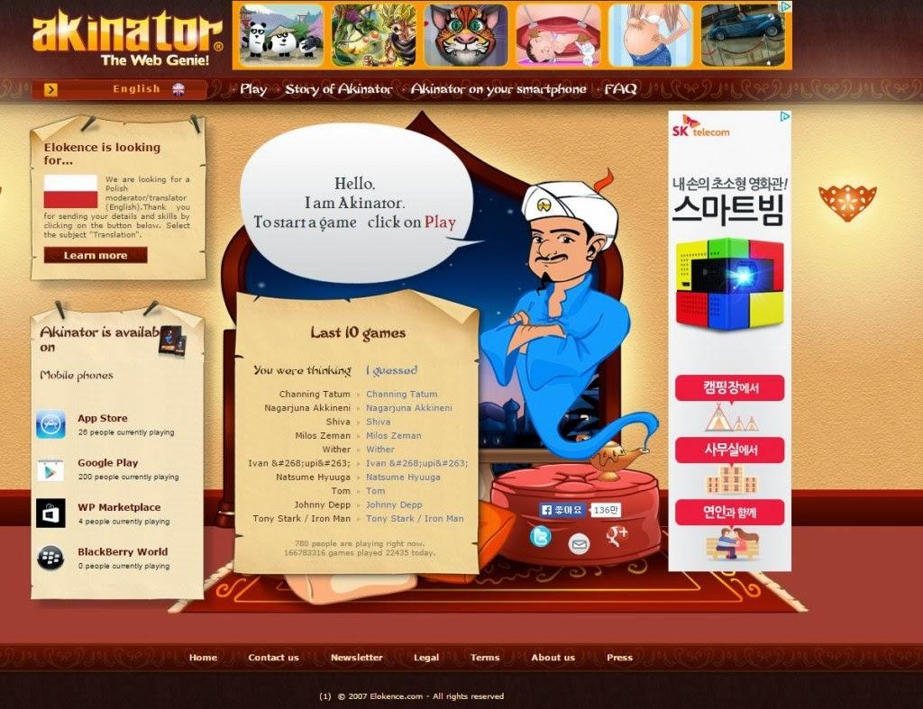 akinator the web genie